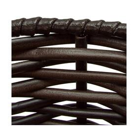 KlickFix Structura Korb oval schwarz/braun